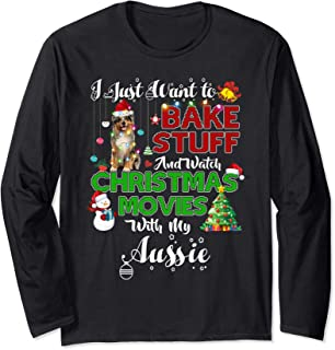 Watch Christmas Movies With my scaft Aussie Long Sleeve T-Shirt