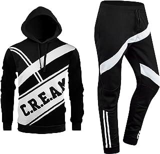 8ecd7566 ALMAS APPAREL New Men Stripe Zip Pocket Track Pants Sweatsuit Track Suit