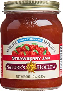 Nature's Hollow, Sugar-Free Strawberry Jam Preserves, Non GMO, Keto Friendly, Vegan and Gluten Free - 10 Ounce
