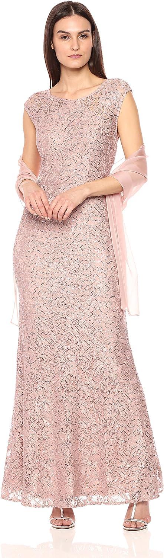 Ignite Women's Illusion Top Sequence Bodice Dress