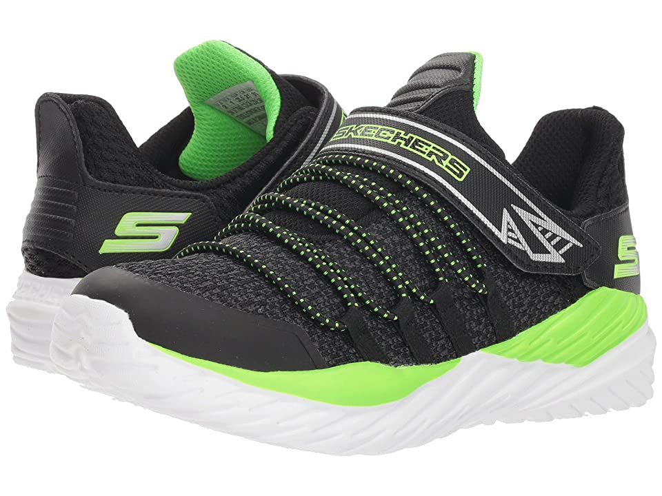 SKECHERS KIDS Nitro Sprint (Little Kid/Big Kid) (Black/Lime) Boy