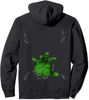 ROCKSTAR Halloween Collection - Green Monster Hand Costume Pullover Hoodie