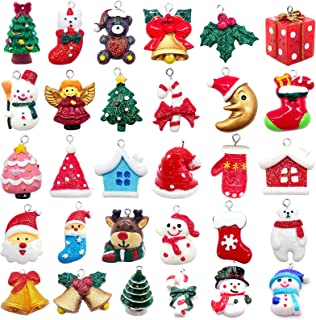 Alpurple 30 PCS Mini Resin Christmas Ornaments-Micro Landscape Ornament Decoration for Mini Christmas Tree and DIY Fairy G...
