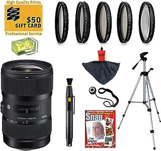 Sigma 18–35mm f1.8DC HSM Artレンズwith UV、CPL、FLD、nd4、+ 10マクロフィルターとバンドルfor Nikon d7100、d7000、d5300、d5200、d5100, d3300, d3200and d3100デジタル一眼レフカメラ