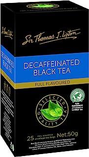 Sir Thomas Lipton Decaffeinated Black Tea, Foil Envelope Tea Bags, 25 Pieces, Decaffeinated Black Tea