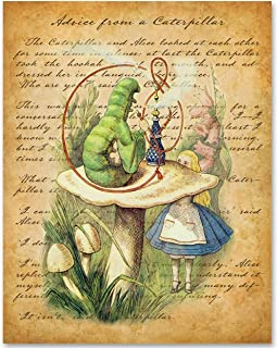 Alice in Wonderland - Advice From a Caterpillar - 11x14 Unframed Alice in Wonderland Print- Makes a Great Gift Under $15 for Disney Fans or Kid's Room