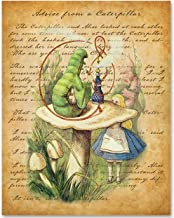 Advice From a Caterpillar - 11x14 Unframed Alice in Wonderland Print- Great Gift for Lewis Carroll Fans and Nursery and Children's Room Decor Under $15