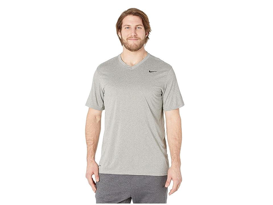 bd95323afc42e Nike Big Tall Dry Tee Legend V-Neck 2.0 (Dark Grey Heather Black