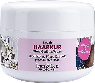 Jean & Len Philosophie Haarkur Repair Kokosöl, Macadamia, lässt das Haar vital und gepflegt aussehen, reichhaltige Pflege ...