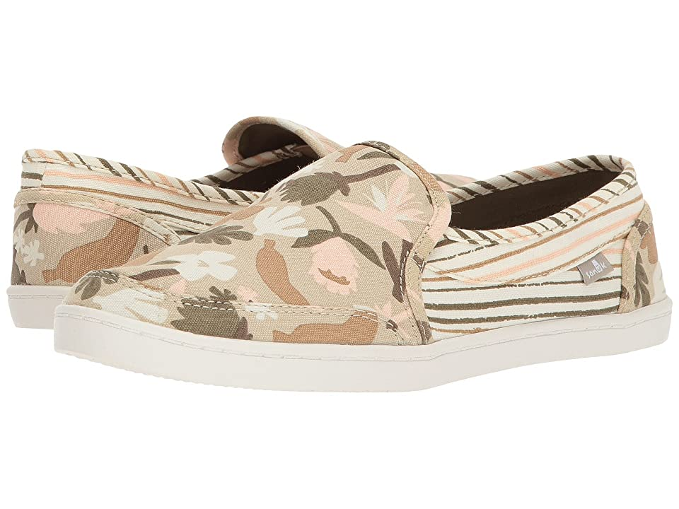 Sanuk Pair O Dice Prints (Natural) Women's Slip on Shoes