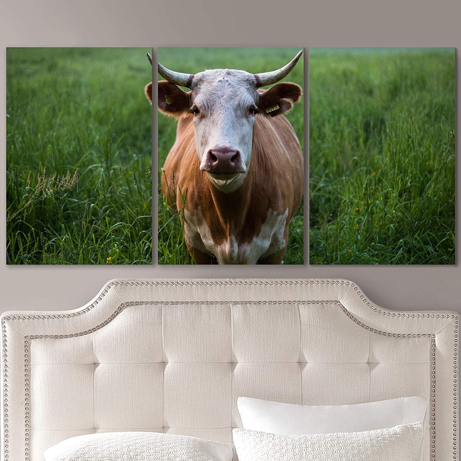Limited time cheap sale SIGNLEADER Cow in The Wild Wall Canvas for Ho Art Animals gift Prints