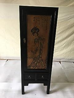 Armoire chinoise ancienne Tibet Asiatique - 1 porte - Largeur 45 x hauteur 131 cm