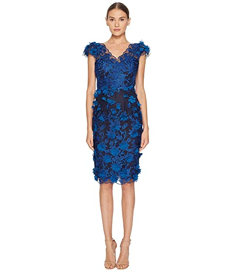 Zac Posen Cotton Poplin Cold Shoulder Dress