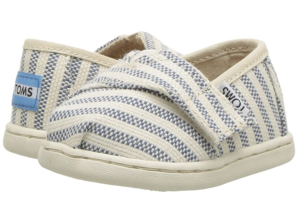 TOMS Kids Alpargata (Infant/Toddler/Little Kid) (Sky Woven Stripe) Kid