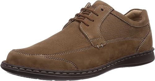 Sioux Eliasso - zapatos con Cordones de Cuero Hombre