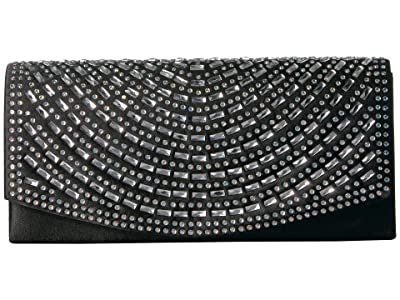 Jessica McClintock Connie Clutch (Black) Handbags