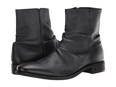 John Varvatos Collection Morrison Sharpei Reverse Leather Boot (Black) Men