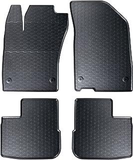 Gummimatten f Fiat Tipo Limousine 2016 Reifen-Design Fußmatten Gummi Automatten