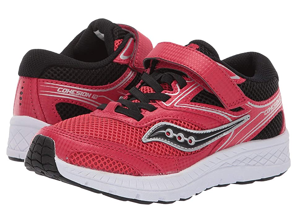 Saucony Kids Cohesion 12 A/C (Little Kid/Big Kid) (Red/Black) Boys Shoes