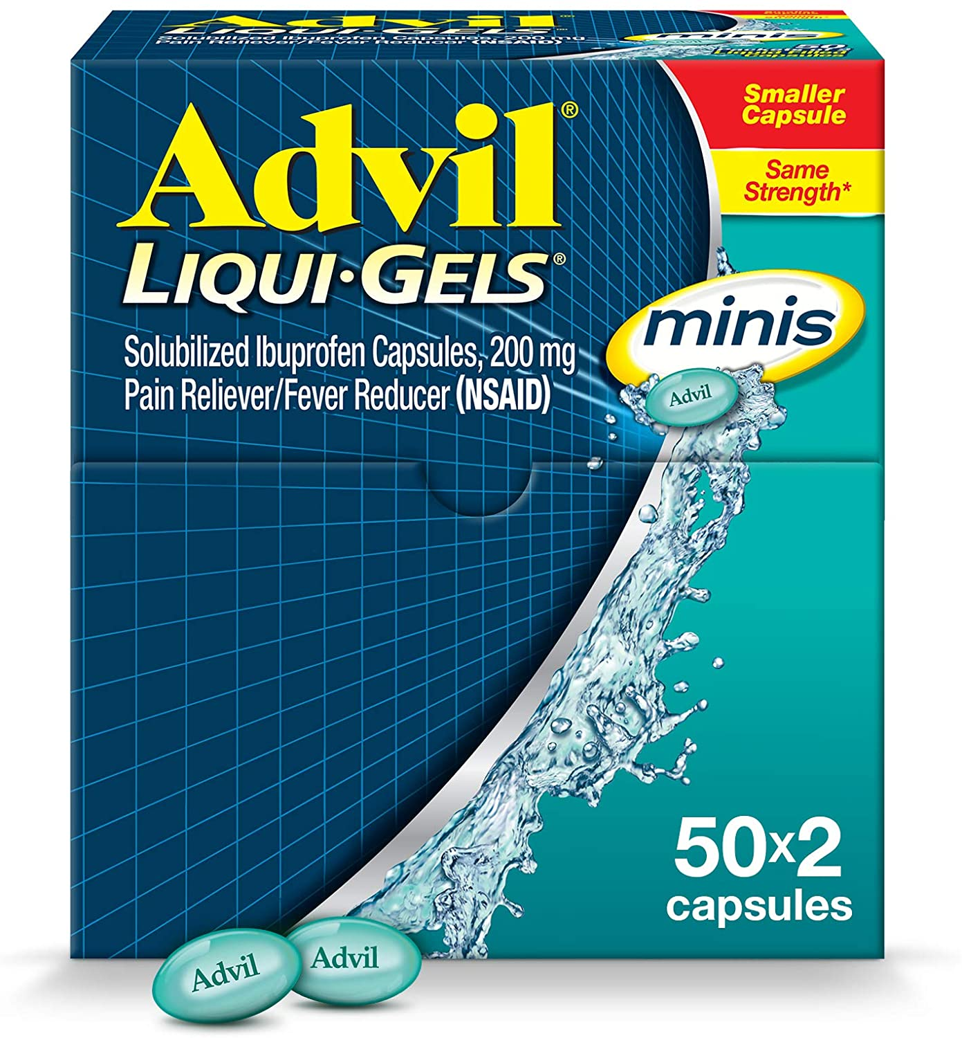 Advil Liqui-Gels minis Minneapolis Mall Pain Reliever Reducer Max 56% OFF and Med Fever