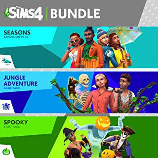 The Sims 4 Bundle - Seasons Jungle Spooky Stuff - [PS4 Digital Code]