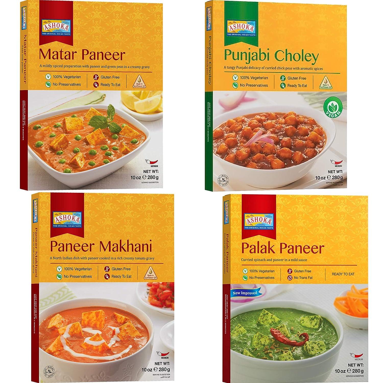 NEW before selling ☆ Ashoka - Limited time for free shipping Paneer Combo Cho Makhani Matar Punjabi