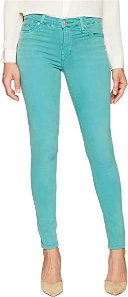 Nico Mid-Rise Ankle Super Skinny in Dusted Jade