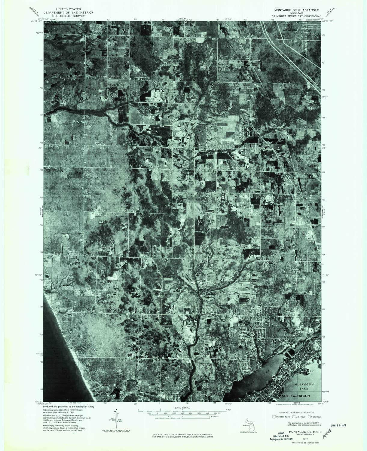 We OFFer at cheap prices YellowMaps Montague SE MI topo map 1:24000 7.5 X Min Scale Attention brand