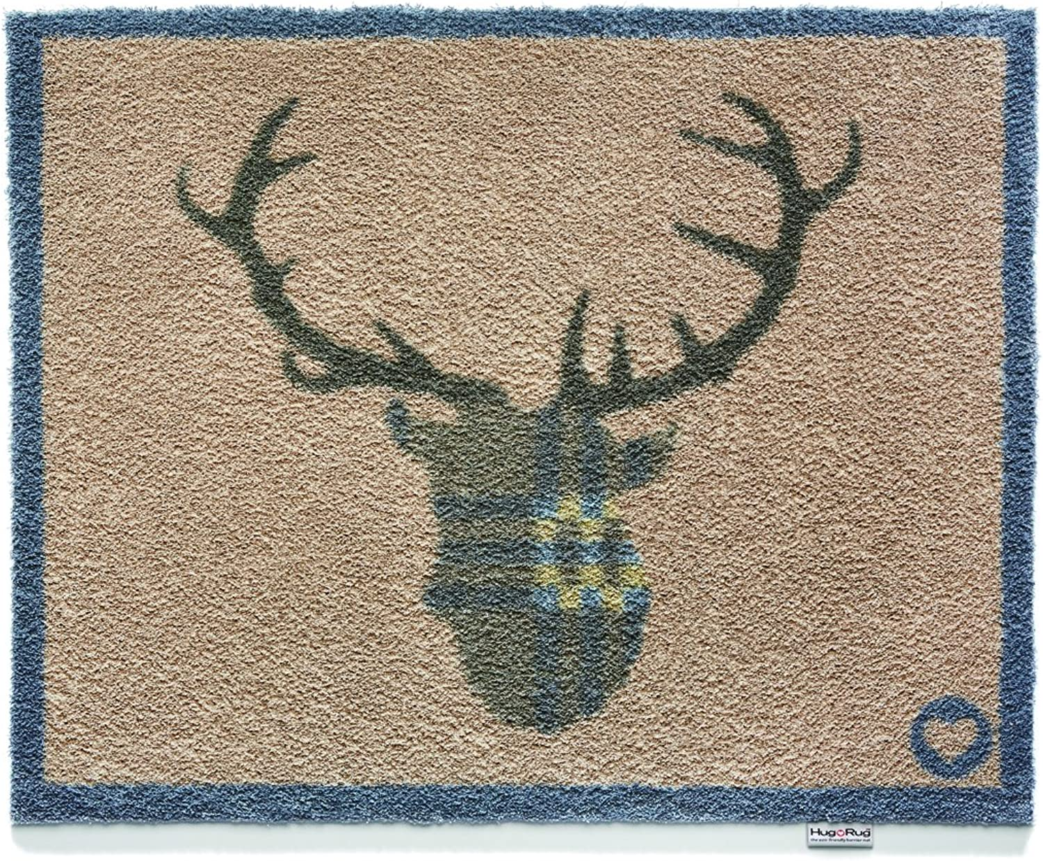 Bosmere Hug Rug Eco-Friendly Absorbent Dirt Trapping Indoor Washable Mat, 25.5  x 33.5 , Deer Buck Antler