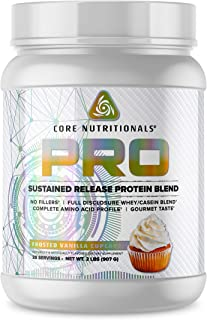 Core Nutritionals Pro Platinum Sustained Release Protein Blend 27 Servings (Vanilla Cupcake)