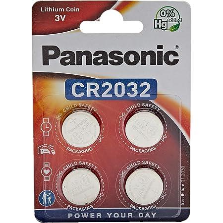 Panasonic CR2032 Lithium Knopfzelle, 3V, 4er Pack