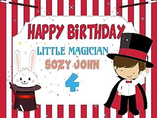 Rainbow Magic Unicorn Pony Birthday Photo Booth 48x36; Personalized Pony Unicorn Confetti Theme Happy Birthday Photo Booth Wall D/écor Size 24x36 Handmade Party Supply Frame Print 48x24