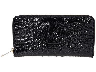 Brahmin Melbourne Skyler Wallet (Black) Wallet Handbags
