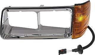 Dorman 889-5208 Driver Side Headlight Bezel for Select Freightliner Models, Chrome