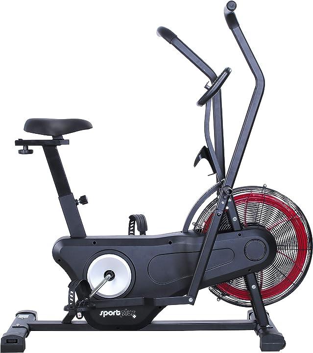 Sportplus 2020 air bike indoor cyclette ergometro per fitness, spinning e crossfit SP-FM-170