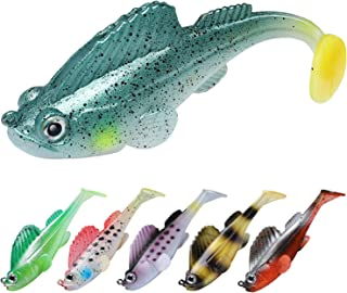 TRUSCEND Fishing Lures for Bass, Soft Swimbaits with Pre-Rigged Ultra-Sharp BKK Hooks, Japan Formula, Fishing Gear for Saltwater & Freshwater, Trout Pike Walleye Bass Fishing Jigs