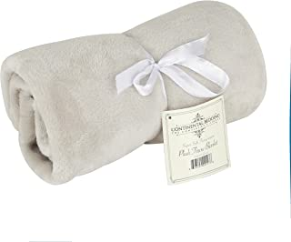 Continental Bedding Premium Quality Super Soft Plush Throw Blanket, Warm and Fuzzy Bed Throws|Baby, Toddler and Adult in: Light Pink, Light Blue, Ivory, Grey, Light Brown & Lavender (30