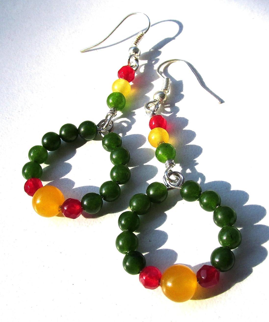 Tri-Color Christmas earrings