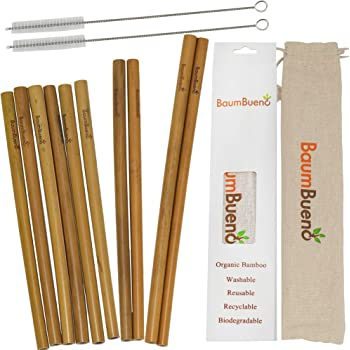 """Reusable Bamboo Straws 