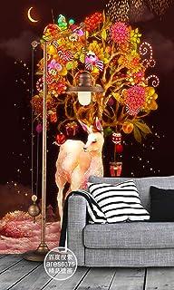 3D Christmas Tree Sika Deer WGF1502 Wall Paper Print Decal Indoor Wall Mural Self-Adhesive Wallpaper AJ WALLPAPER AU Angel...