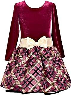 bonnie jean burgundy dress