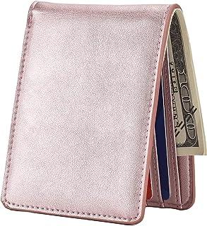 1725c7844c Mens Slim Front Pocket Wallet ID Window Card Case with RFID Blocking