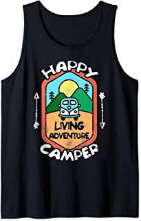 Funny Camper TShirt Happy Camping Lover Camp Vacation Shirt Tank Top