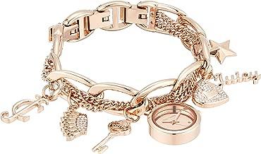 Juicy Couture Black Label Women's  Swarovski Crystal Accented Charm Bracelet Watch