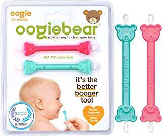 oogiebear - The Safe Baby Nasal Booger and Ear Cleaner - Baby Shower Registry Essential | Easy Baby Nose Cleaner Gadget fo...