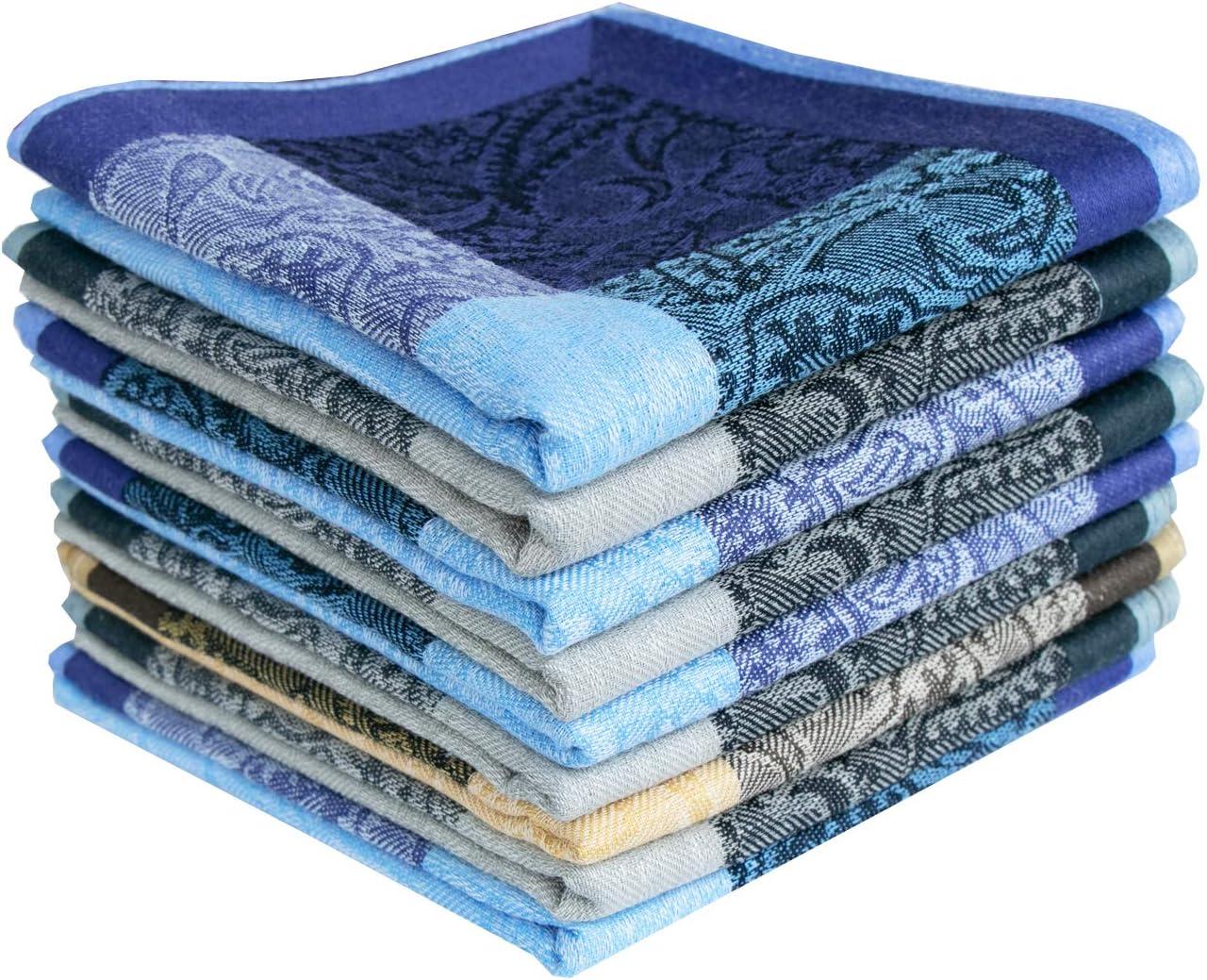 Mens Soft Cotton Handkerchiefs,Paisley Assorted Hankies 17inch