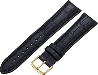 Hadley-Roma Men`s MS2005RA-160 16-mm Black Genuine Alligator Leather Watch Strap