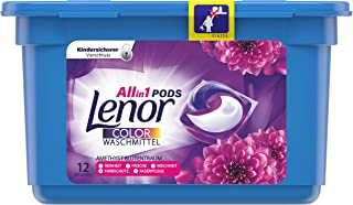 Lenor All-in-1 PODS rengöringsmedel ametist blomma rum, 12 tvättlaster