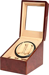 New BURL Wood 2+3 Automatic Dual/Double Watch Winder + 3 Display Storage Box Battery OR AC/DC Power