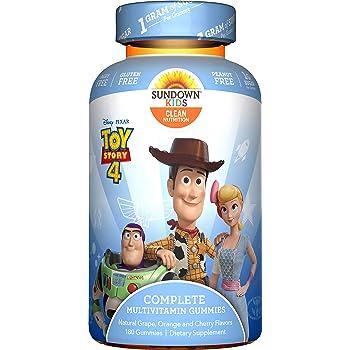 Sundown Kids Sundown Naturals Kids Pixar Toy Story 4, Complete Multivitamin, Gluten & Dairy Free, 180 Gummies, 180Count